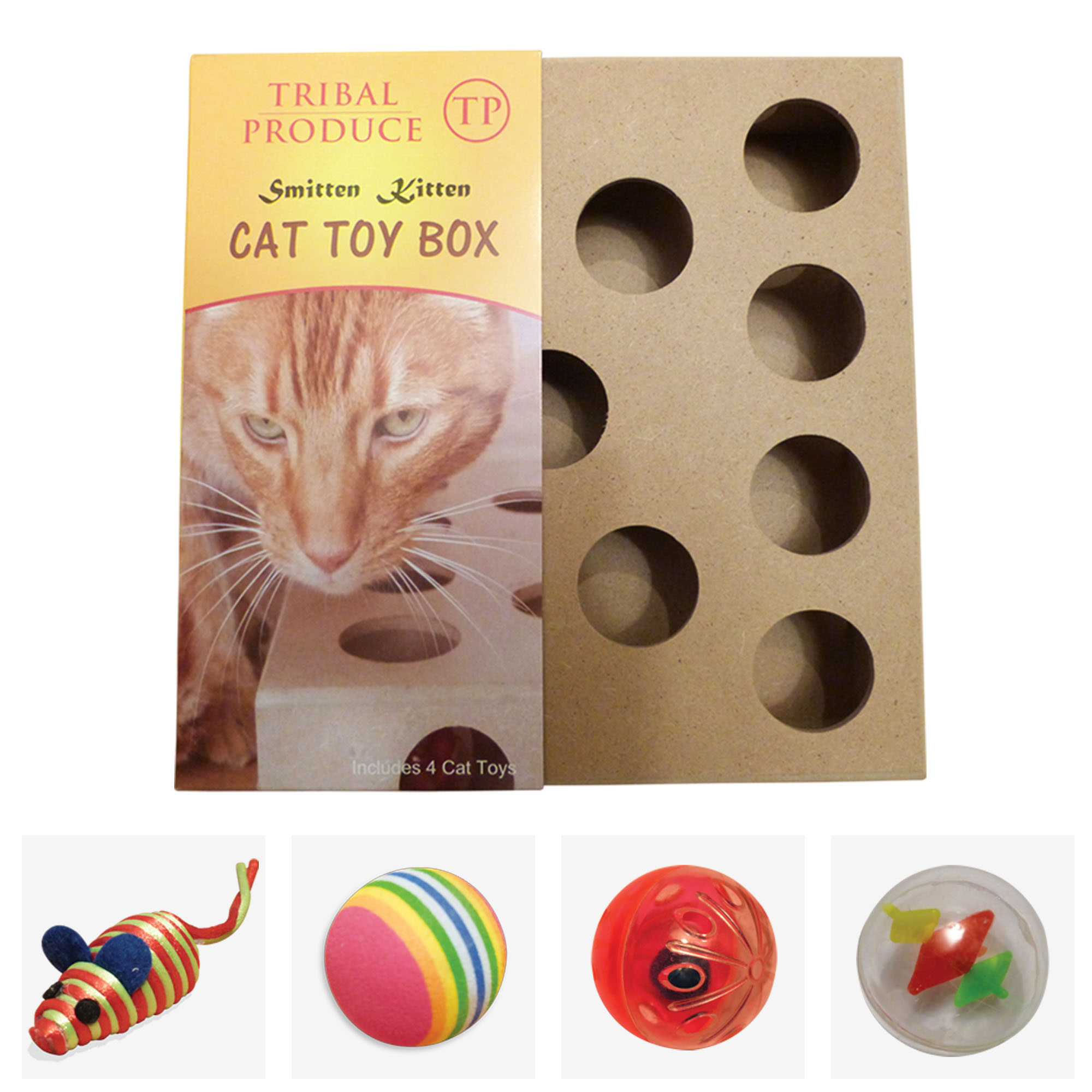 cat toy puzzle box tribal produce. Black Bedroom Furniture Sets. Home Design Ideas